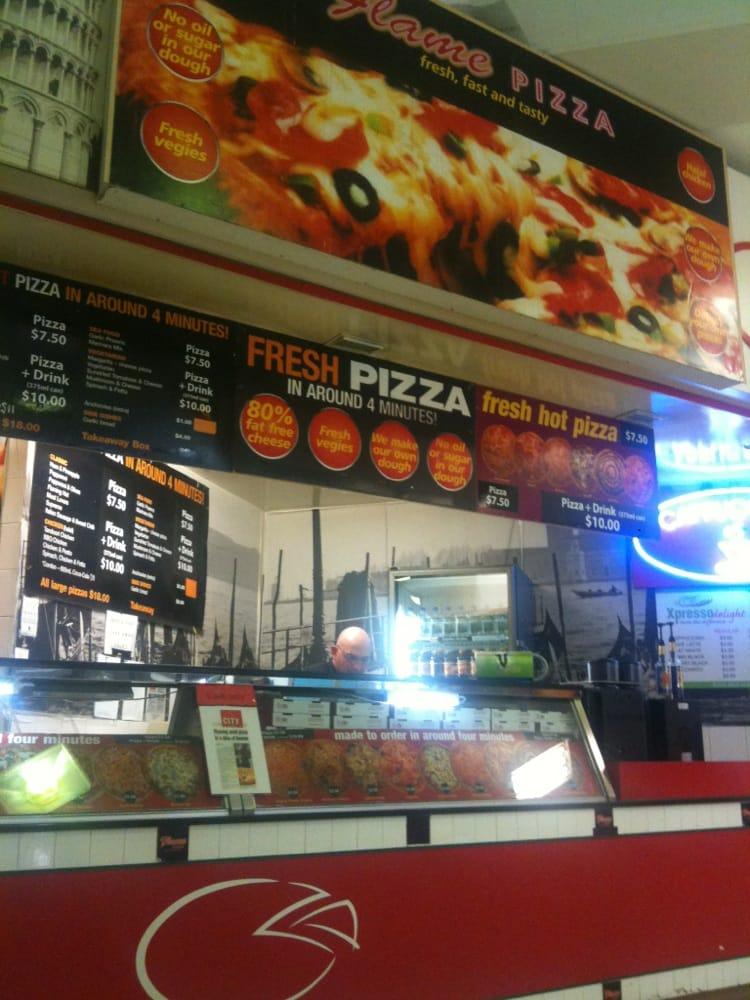 Flame pizza takeaway fast food 151 roma st cbd for Australian cuisine brisbane
