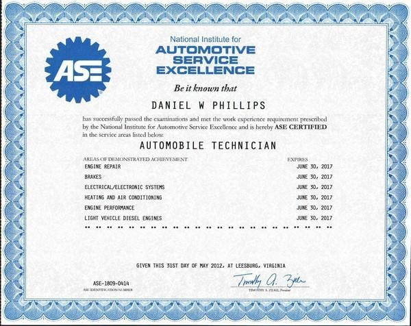 Auto mechanic certification 16