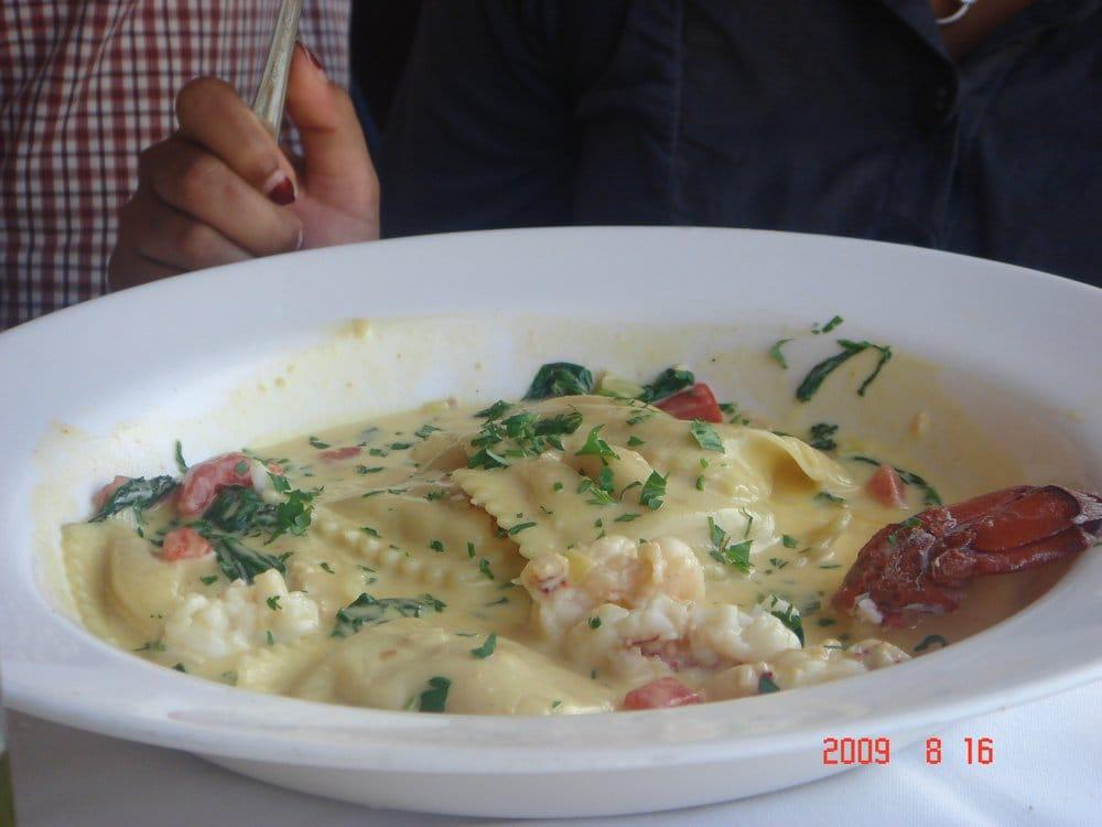 Lobster Ravioli in Saffron Cream Sauce - Yelp