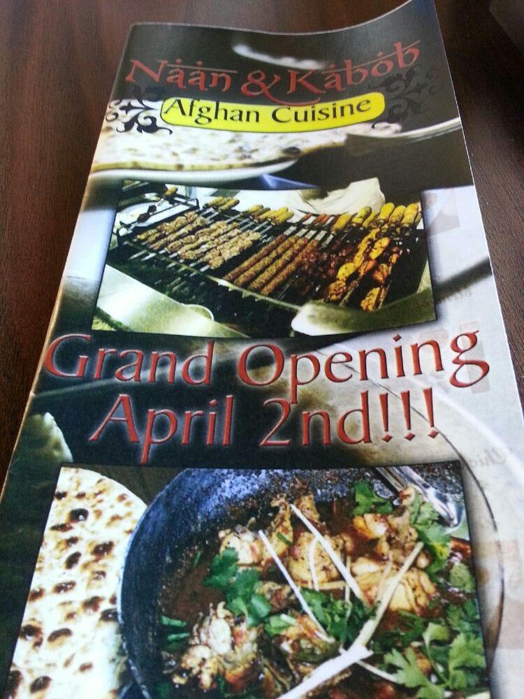 Menu yelp for Afghan kebob cuisine menu