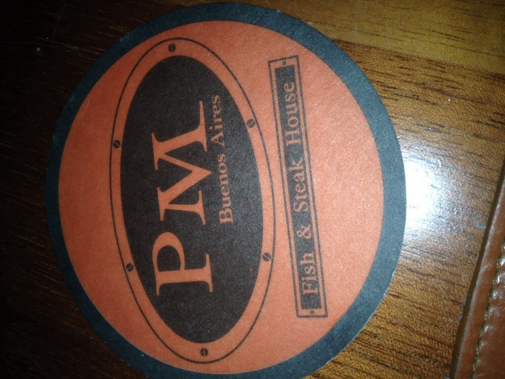 Very cute coasters yelp for Pm fish steak house