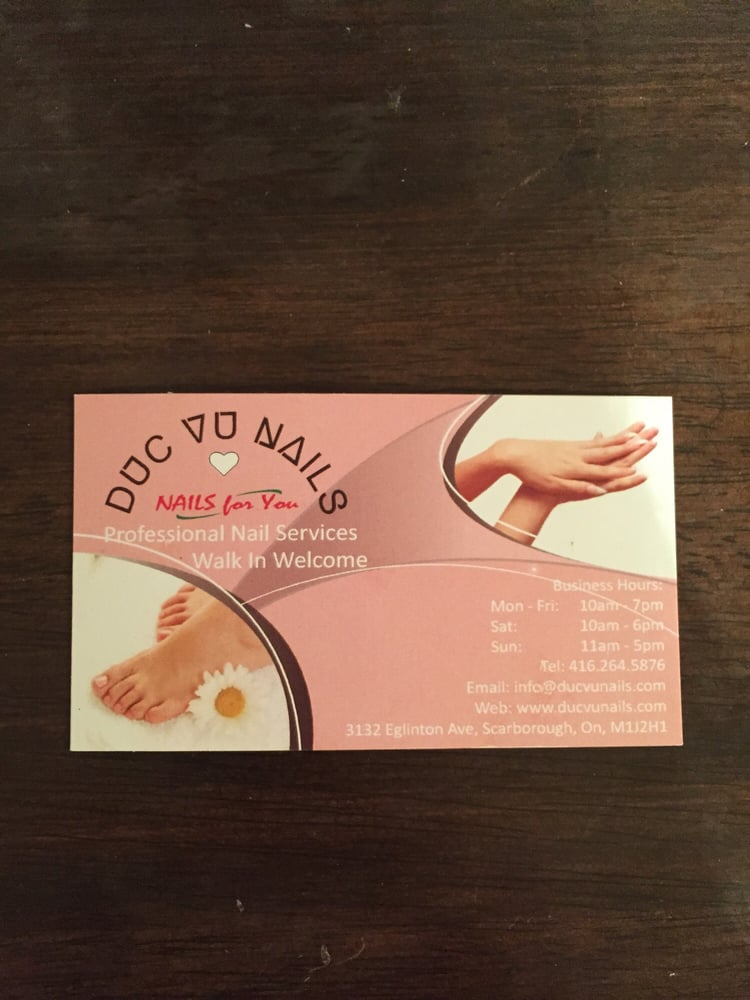 Duc VU Nails/Nails For You - Nail Salons - 3132 Eglinton Avenue E ...