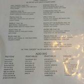 old mac daddy restaurant menu