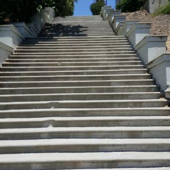 Photo Of Laveta Terrace Stairs   Los Angeles, CA, United States. Looking Up