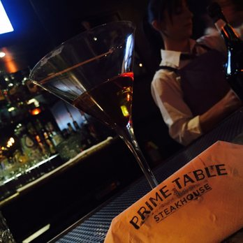 A drink at Prime Table, Stockton