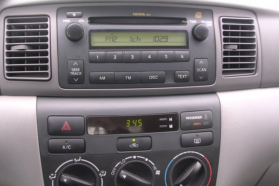sound guy added an aux input cable to my 2006 toyota. Black Bedroom Furniture Sets. Home Design Ideas