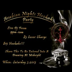 arabian nights hookah lounge essay The other lounge offers a hookah at $7 per person and if you come in with 3-5 people you get 2 hookahs which bar are you going to one that makes you pay for 2nd hookah or the one that gives you a 2nd one for free.