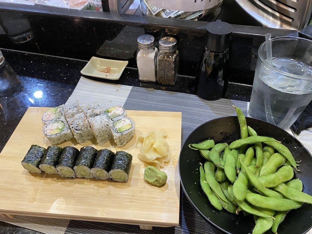 Food from Mizu Sushi Bar & Japanese Grill