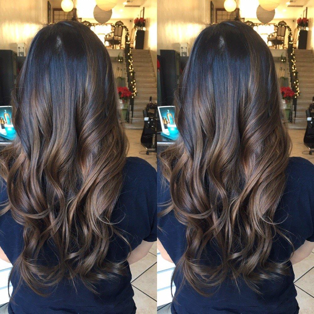 Balayage Highlights And Haircut On Asian Hair Yelp
