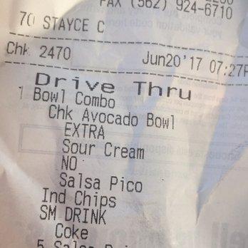 Didn T Get A Receipt Fast Food