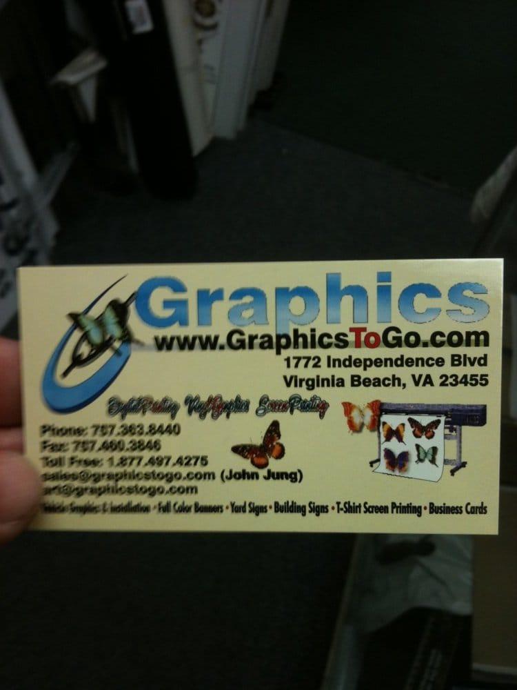 Graphics To Go - Graphic Design - 2104 Pleasure House Rd, Virginia ...