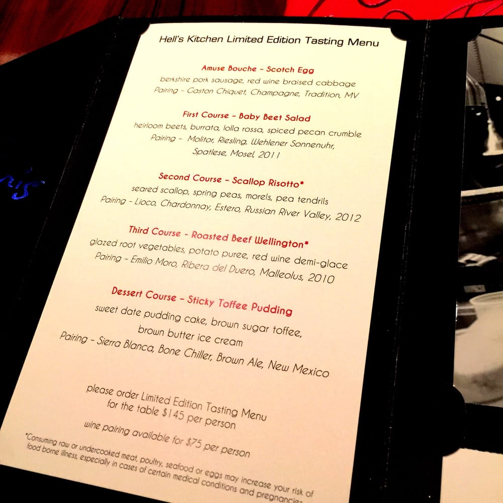 photo of gordon ramsay steak las vegas nv united states hells kitchen - Hells Kitchen Menu