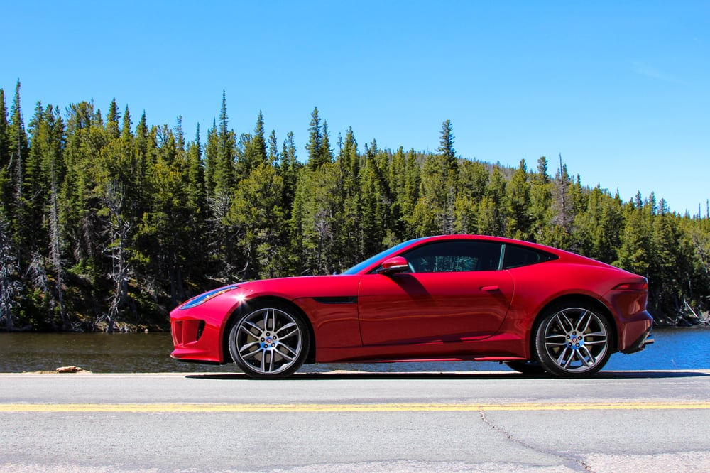 A Jaguar F Type In Front Of Lake Peterson Yelp