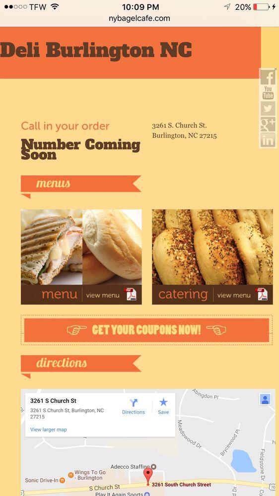 Ny Bagel Cafe And Deli Burlington Nc