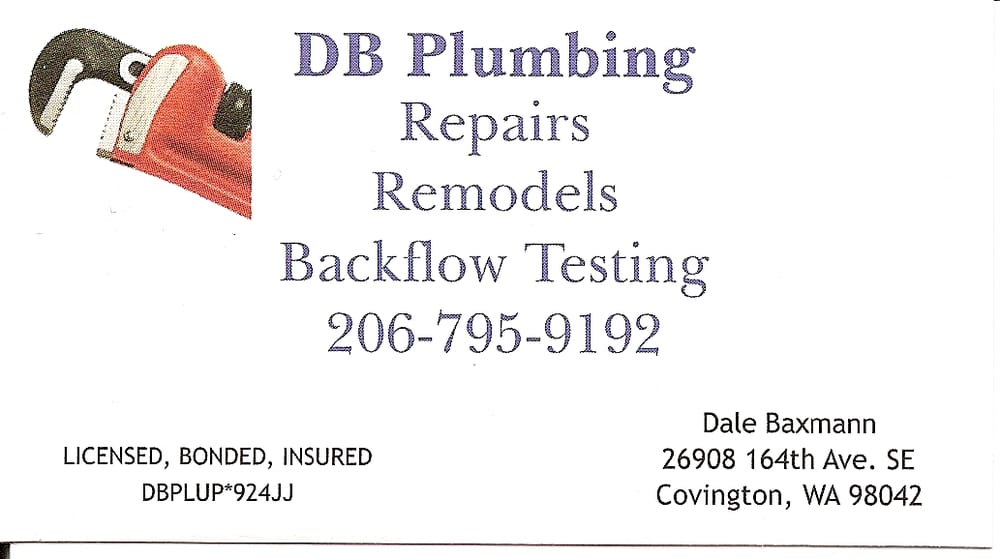 D B Plumbing: 26908 164th Ave SE, Covington, WA