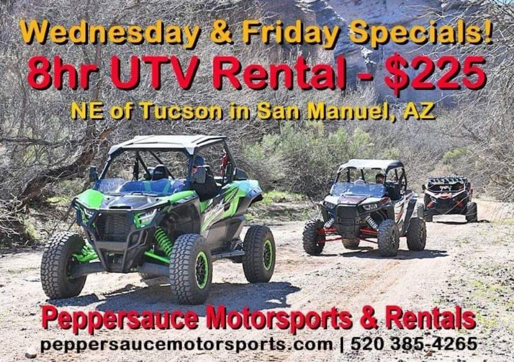 Peppersauce Motorsports & Rentals: 136 W 8th Ave, San Manuel, AZ