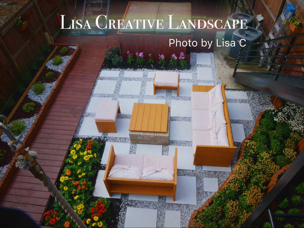 Lisa Creative Landscape 48 Photos Landscape Architects 48 S Simple Backyard Design Landscaping Creative