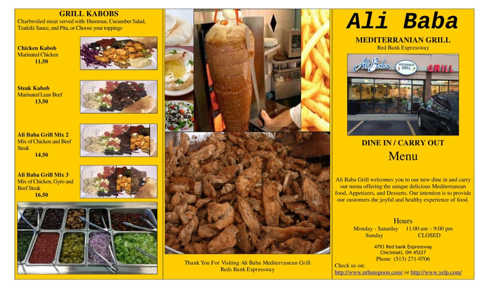 2015 new menu page 1 of 2 yelp for Ali baba mediterranean cuisine