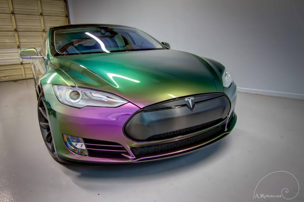 Auto Vinyl Wrap >> Tesla Model S with the Chameleon wrap - Yelp