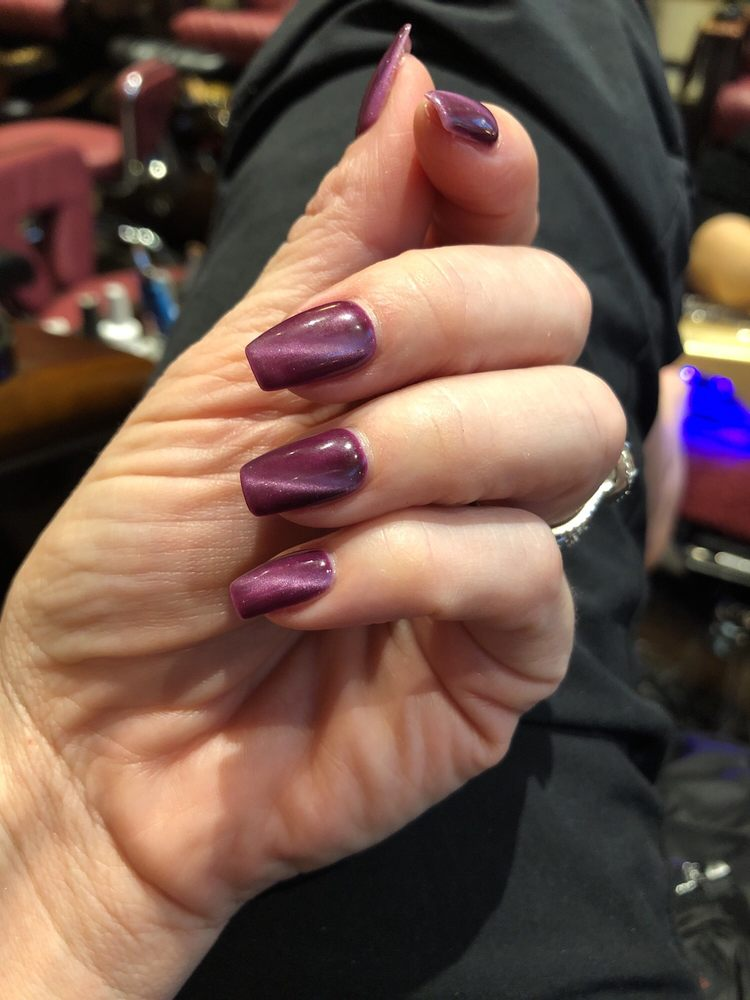 Newest look. Cats Eye effect at Anthony Vince Nail Salon. Fun and ...
