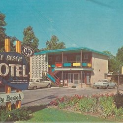 Photo Of Terrace Beach Motel Traverse City Mi United States 1950 Postcard
