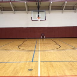 Indoor basketball courts multiple goals 1st floor for Indoor half court basketball cost