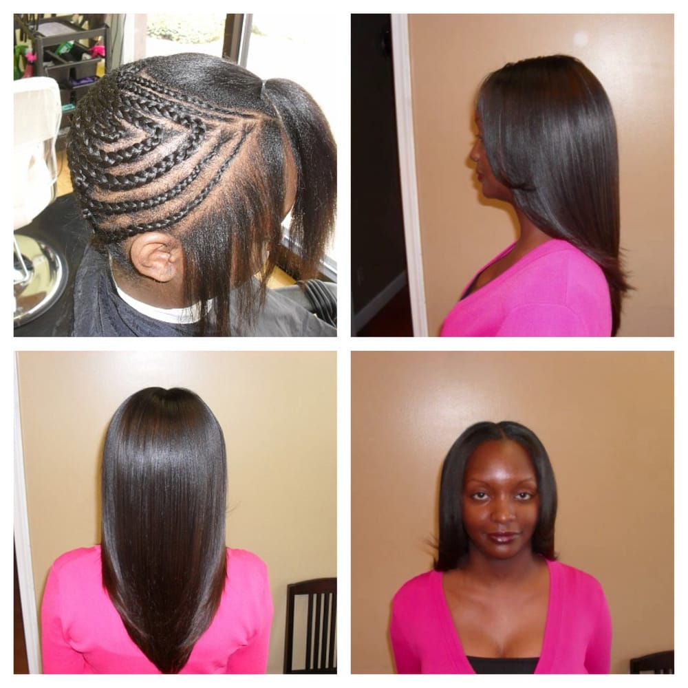 Before after sew in weave wbrazilian hair 150value 185 yelp add photos photo of custom hair extensions hair loss center tucker ga united states pmusecretfo Image collections