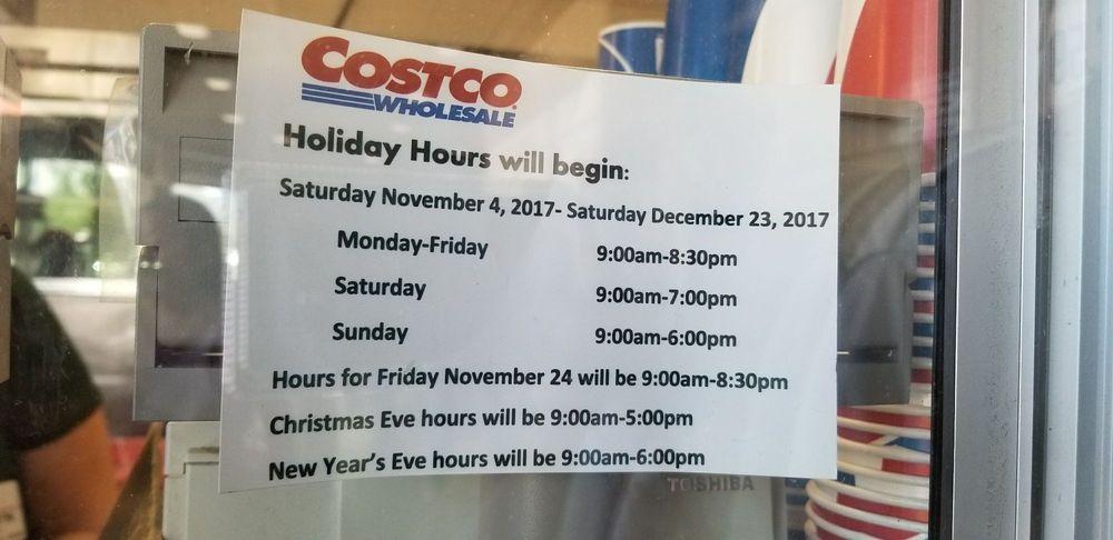 Costco Christmas Eve Hours.Holiday Hours 2017 Yelp