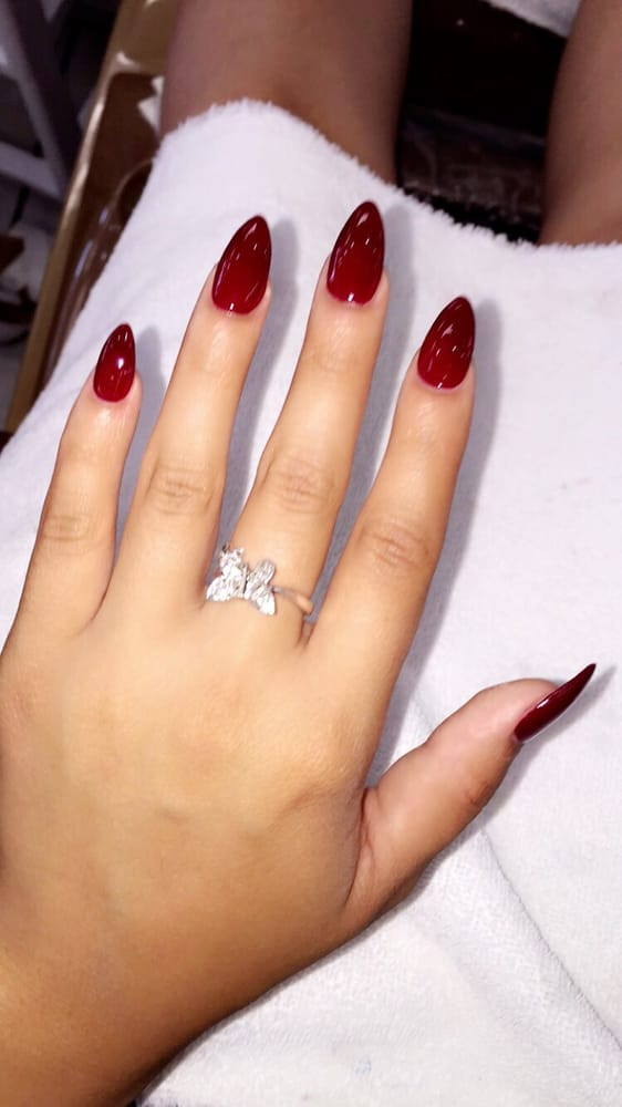 Blood red pointy nails - Yelp