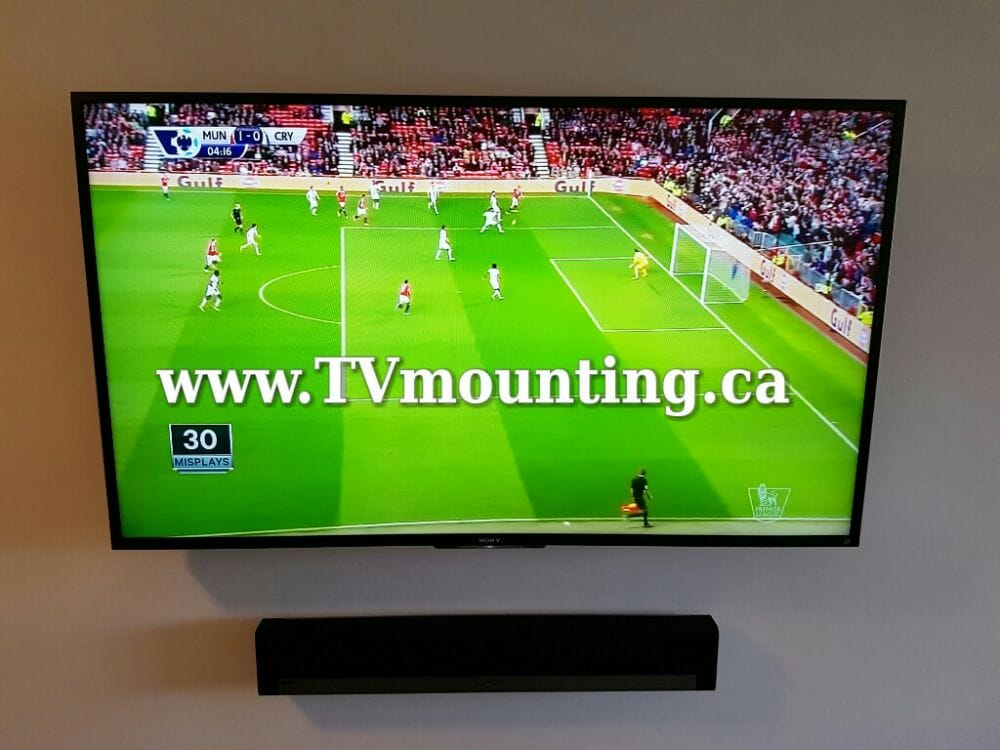 Outstanding 65 Inch Hdtv Low Profile Tv Wall Mount Sonos Sound Bar In Wall Wiring 101 Tzicihahutechinfo