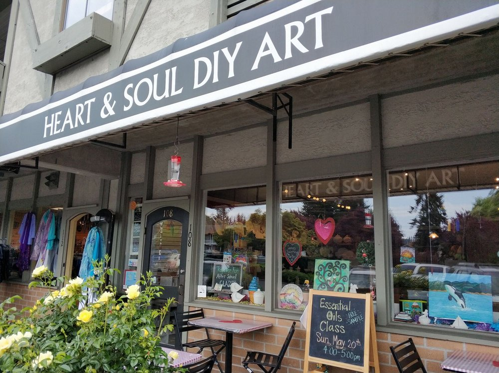 HeArt & Soul Art as Therapy Studio: 108 Winslow Way W, Bainbridge Island, WA