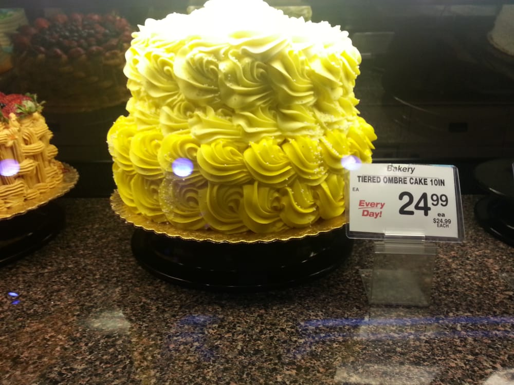 Ombre, like the hairstyle :-P Not a bad cake. Well played Safeway ...