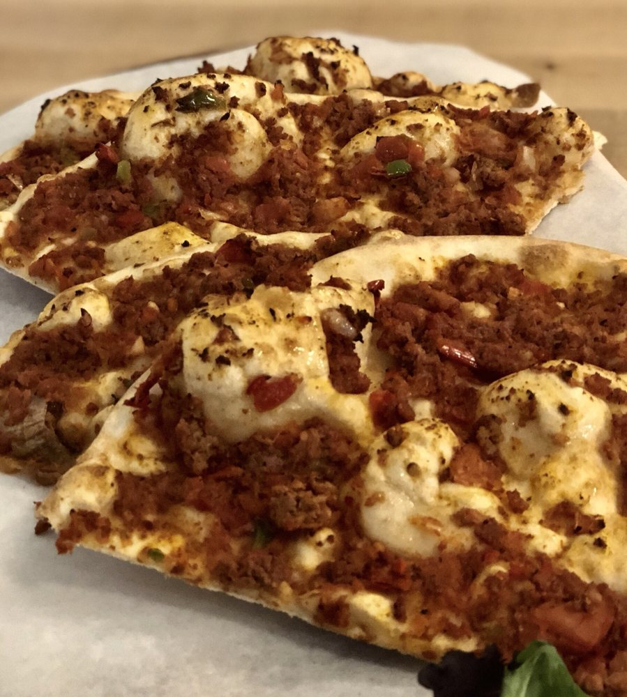 Lahmacun! So freaking delicious! , it's an authentic Turkish pizza