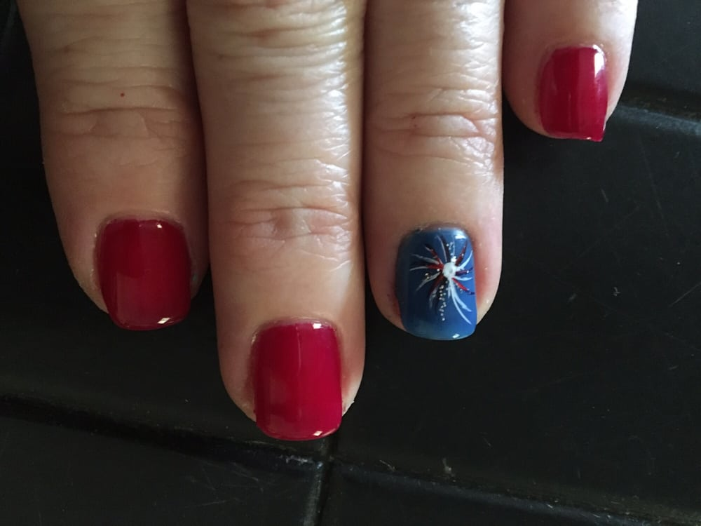 Mary did my Gel Nails and firework art and Mimi did my toes. Great ...