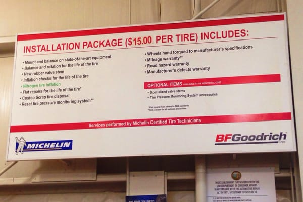 Costco Tire Center 2300 Middlefield Rd Redwood City Ca Tire Dealers