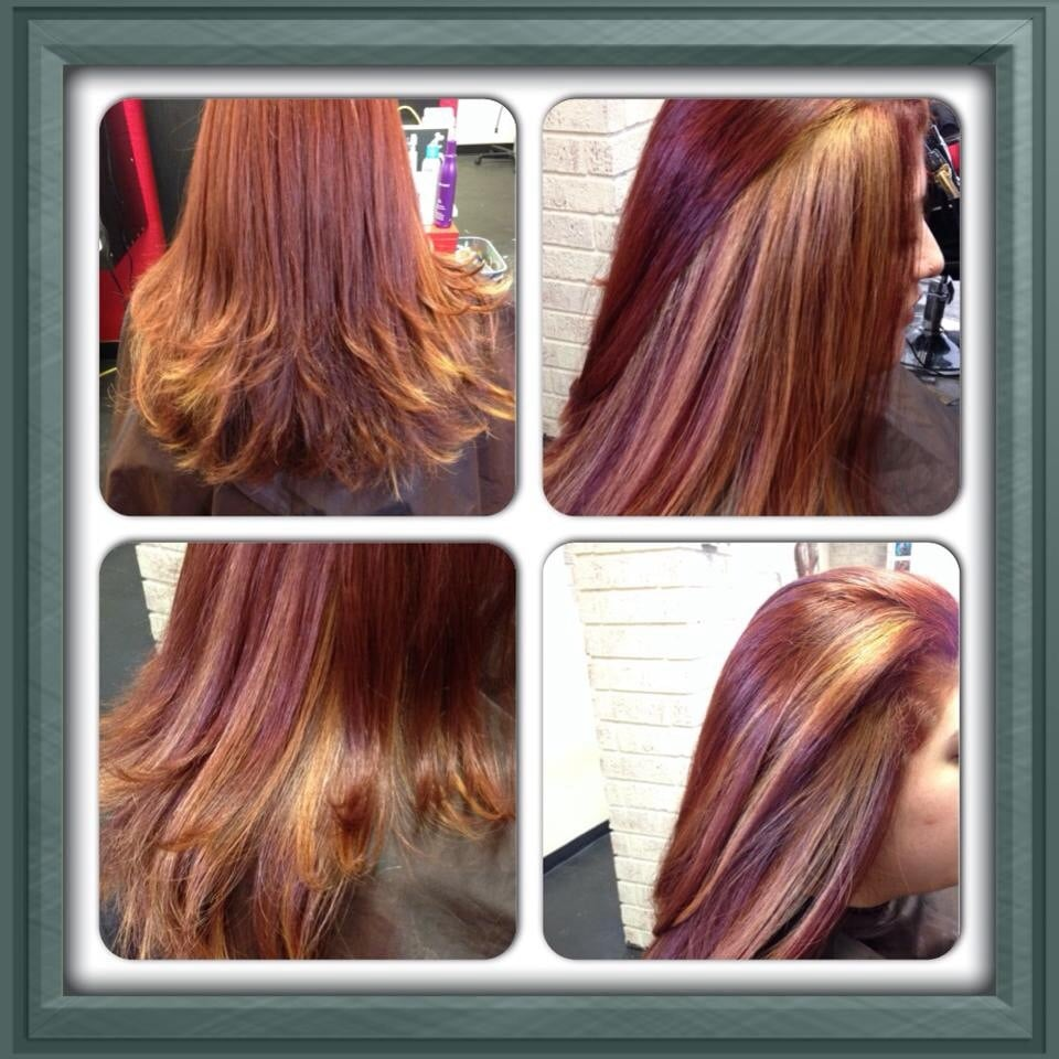 Soft Red Base W Blonde Peek A Boo Highlights Yelp