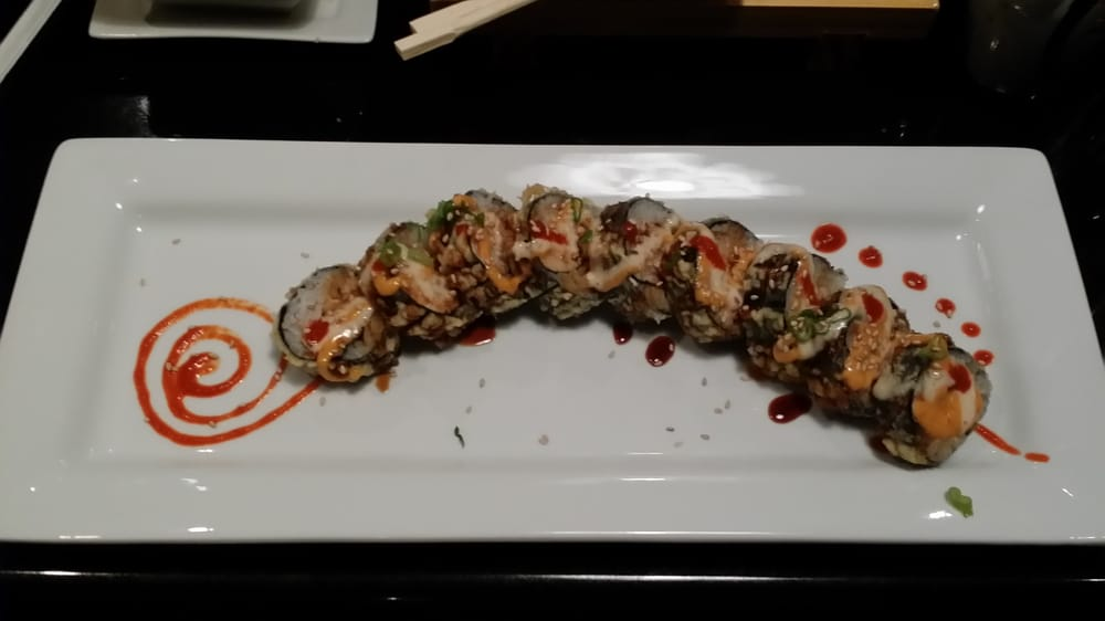 Beautiful presentation of Godzilla roll - Yelp