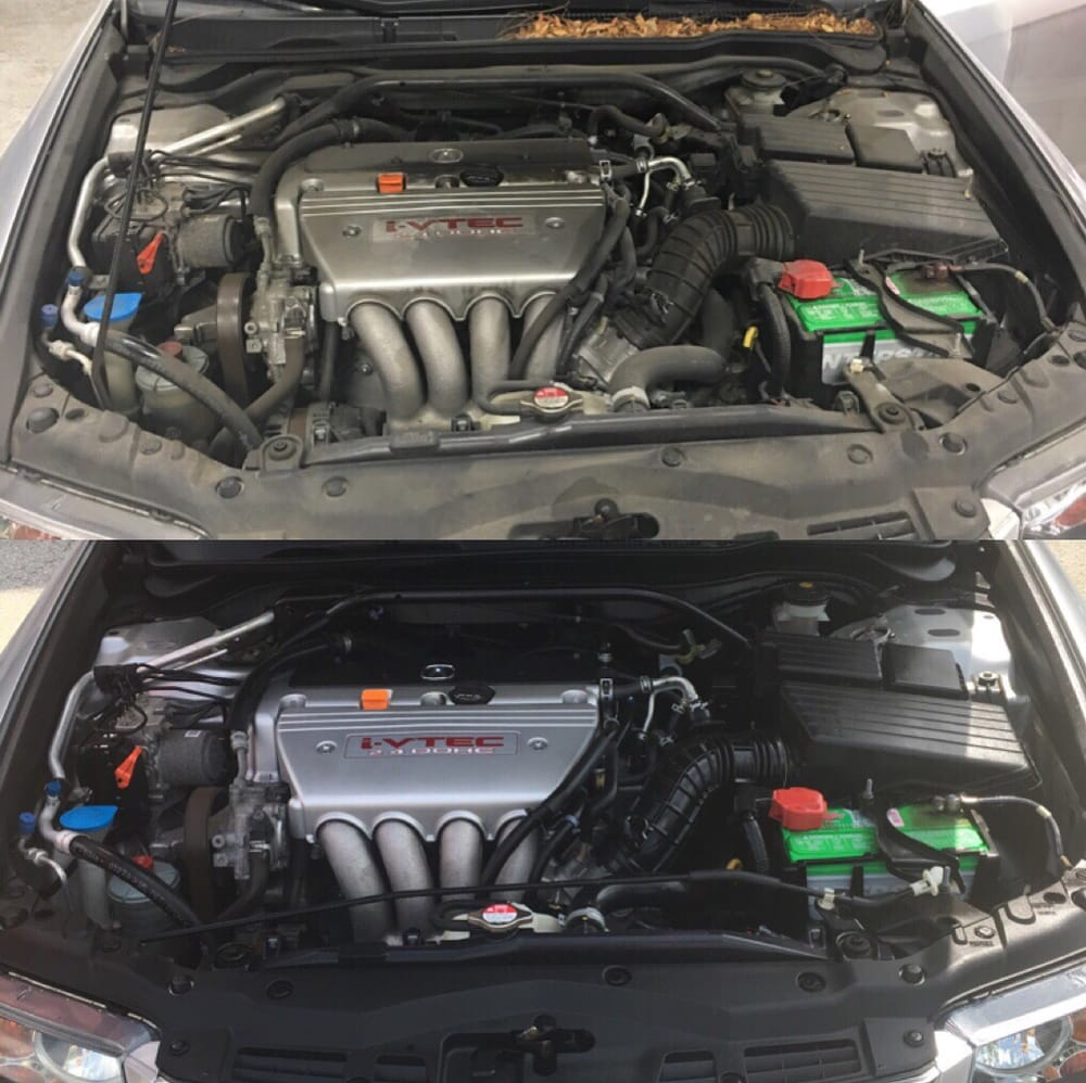 Before and after of acura tsx my boyfriend just purchased for Castle honda service