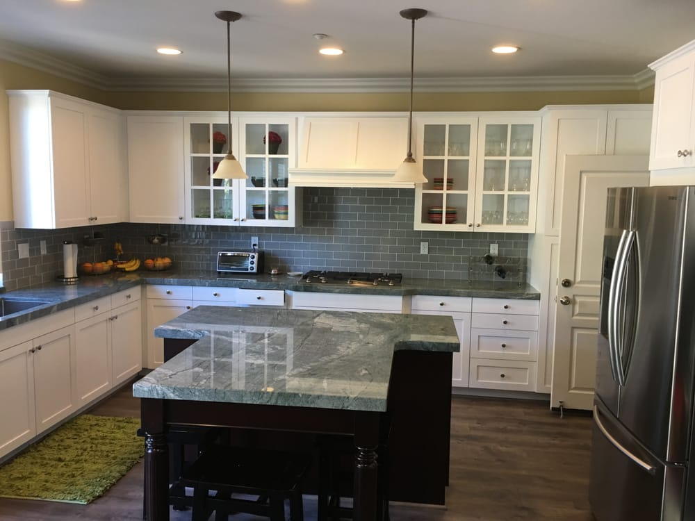 Honey Maple Cabinets Refinished With Tinted Polyurethane In White