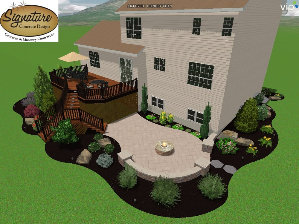 Photo Of Signature Concrete Design Easton Pa United States Landscape Rendering
