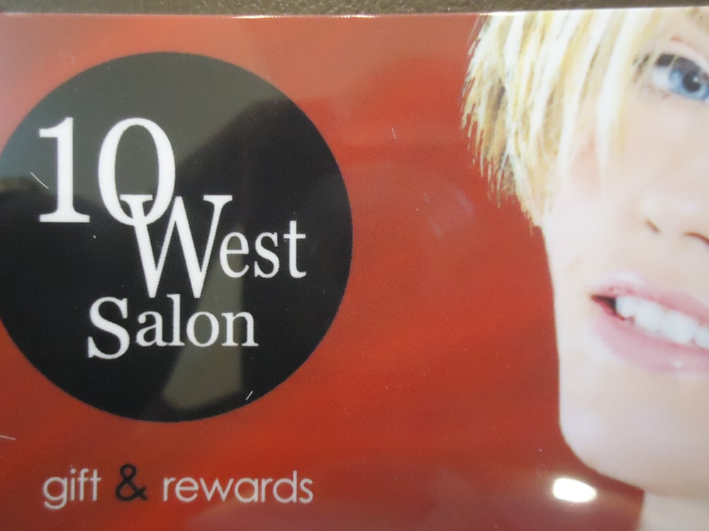 earn 10 west points for every spent at 10westsalon in