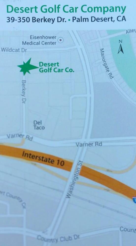 Desert golf car company send message golf cart rentals for Desert motor palm desert ca