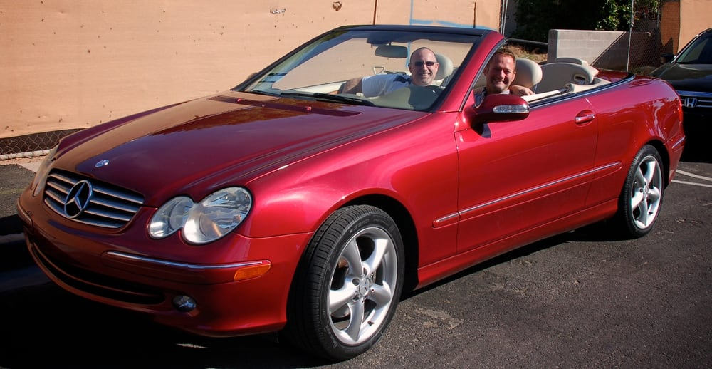 us in our 2005 clk320 firemist red ride while on a road trip to scottsdale vrooom yelp. Black Bedroom Furniture Sets. Home Design Ideas