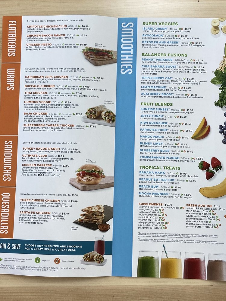 Tropical Smoothie Cafe: 955 Rockland Rd, Lake Bluff, IL