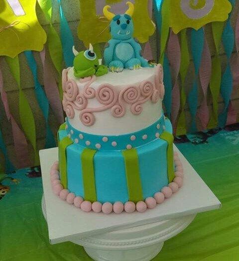 My Baby Shower Cake Monsters Inc Theme Yelp