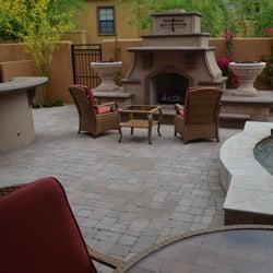 Photo Of Lone Star Landscaping   Phoenix, AZ, United States. Custom  Fireplace With