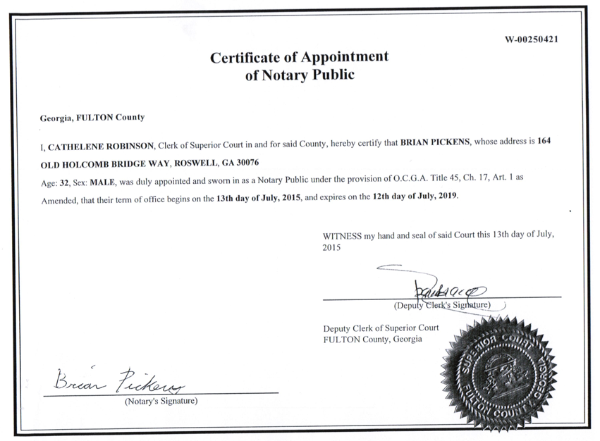 Atlanta's Public Notary - Notaries - Sandy Springs, GA - Phone ...