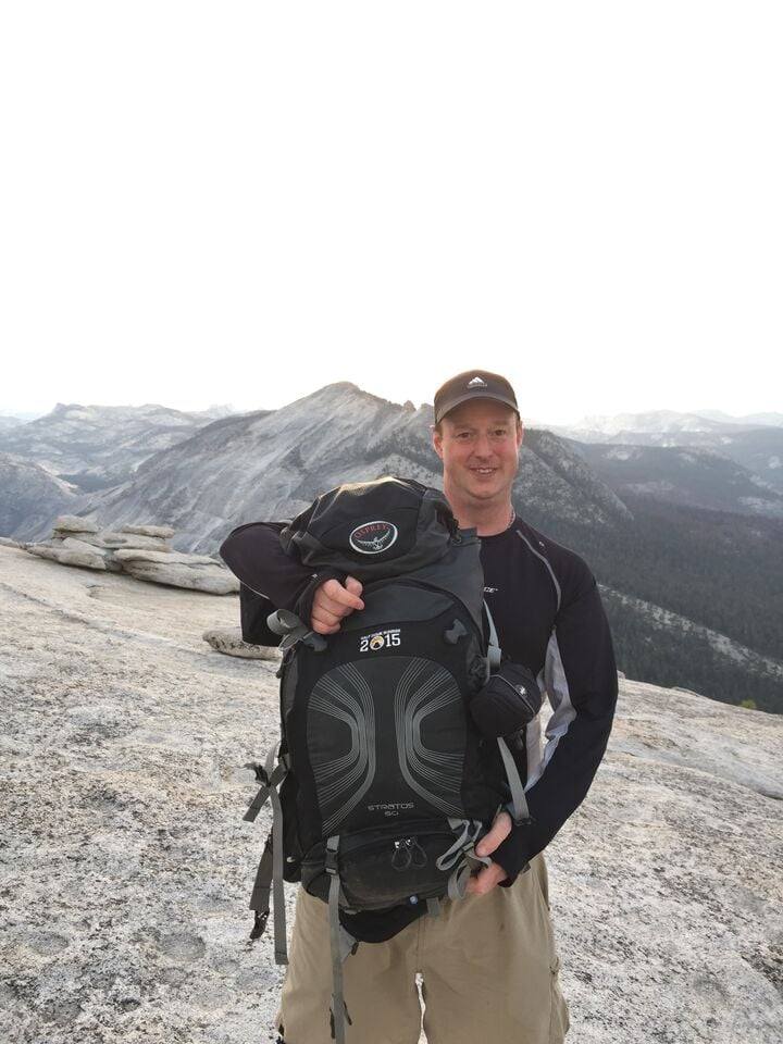 Joys custom Embroidery for my Climbing crews backpacks-- Summit of