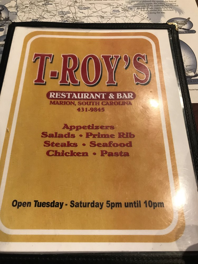 T-Roy's Restaurant: 113 Palmetto Pointe Rd, Marion, SC