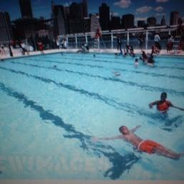 The Floating Pool At Brooklyn Bridge Park Beach Swimming